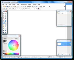 Print screen или как показать картинку со своего монитора - paint net 300x242